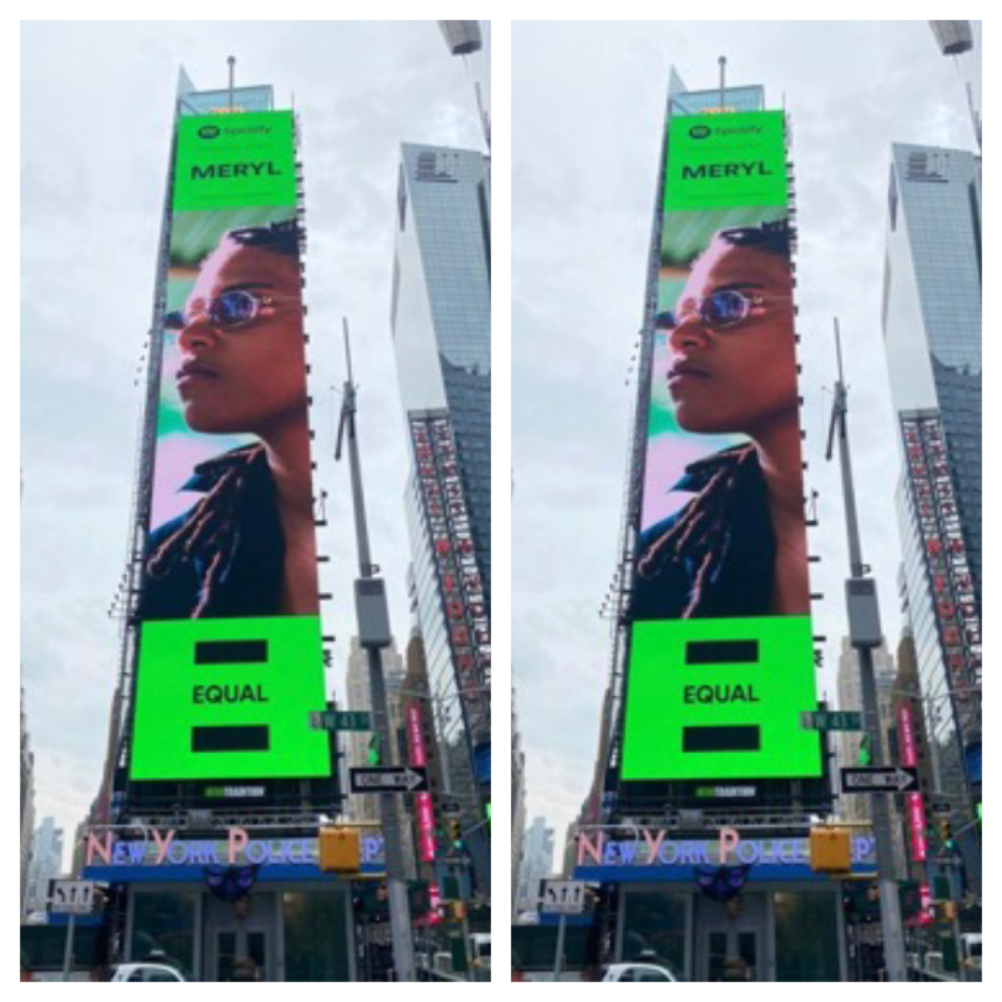 Meryl : La rappeuse martiniquaise affichée en grand en plein Times Square à New-York